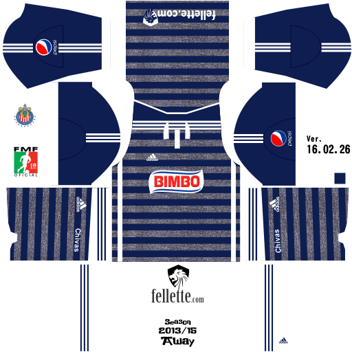 ced2673f159 Jerseys de Club Guadalajara (CHIVAS) para Dream League Soccer ...